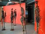 installation view with Guy Pederson sculptures
