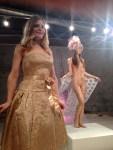 "opera singer Giovanna Saldana with model in ""delicate"""